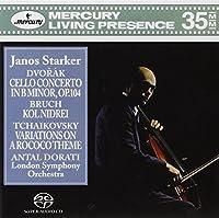 Dvorテ。k Cello Concerto in B minor, Op. 104; Bruch Kol Nidrei; Tchaikovsky Variations on a Rococo Theme / Dorati, Starker, London Symphony Orchestra (3-Channel and Stereo Hybrid SACD) by Starker/Dorati/London Symphony Orch. (2005-05-10)
