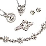 One&Only Jewellery 【SWAROVSKI福袋】 豪華5点セット スワロフスキー エレメンツ トータルコーデセット ネックレス リング ブレスレット 正規ストーン採用 (ピアスセット)