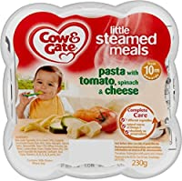 Cow & Gate Little Steamed Meals Pasta with Tomato, Spinach & Cheese 10mth+ (230g) 牛とゲートが少しの食事にトマトとパスタを蒸し~ほうれん草とチーズ10Mthの+ ( 230グラム)