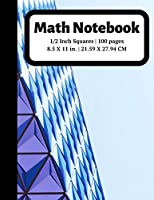 Math Notebook: 1/2 inch Square Graph Paper for Students and Kids, 100 Sheets (Large, 8.5 x 11) (Graph Paper Notebooks)