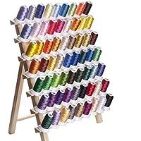 カラー糸 ミシン糸 DIY刺しゅう糸 63色/各500m 家庭ミシン刺繍糸