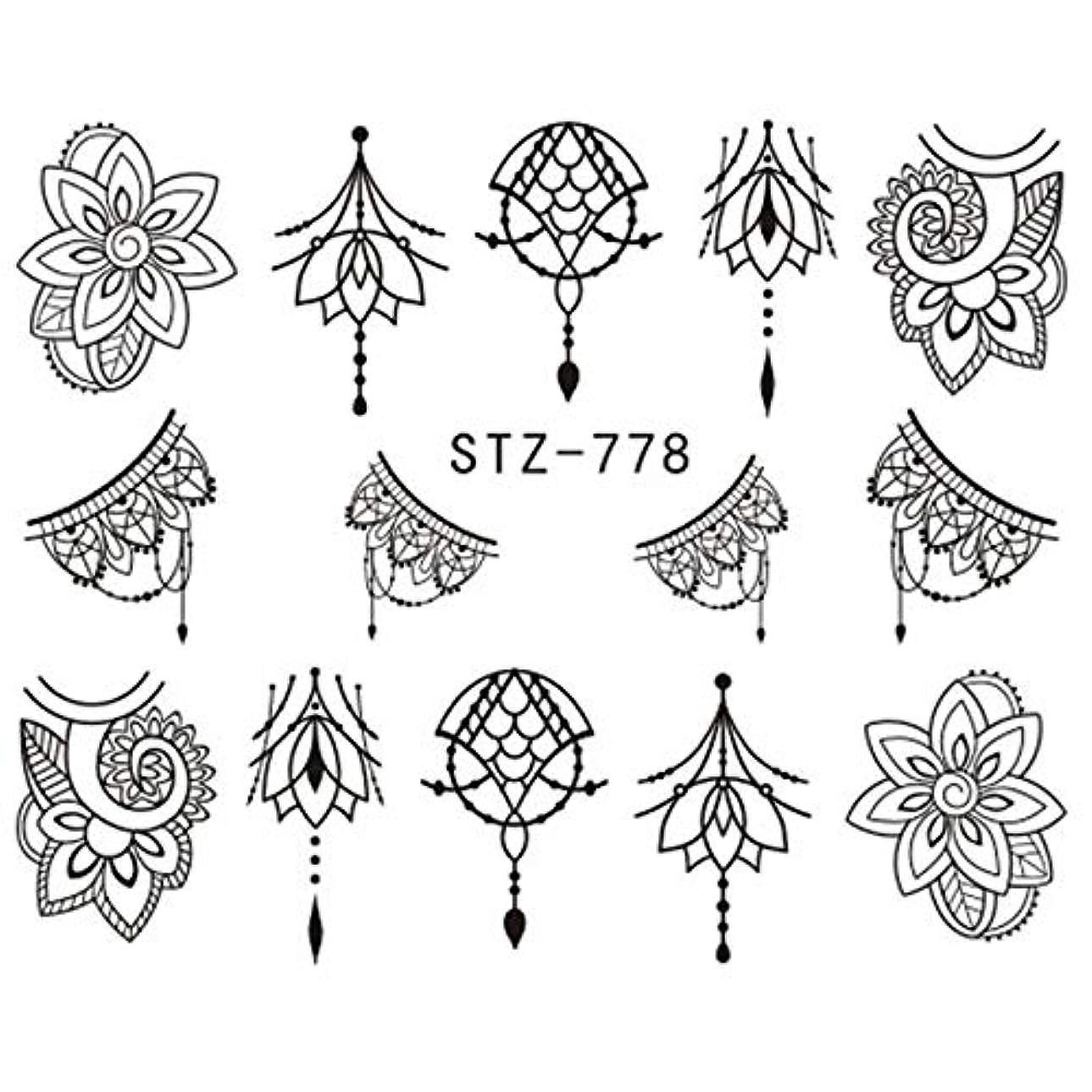 有限立方体非難CELINEZL CELINEZL 3 PCSウォーターデカールネイルステッカー(STZ766) (色 : STZ778)