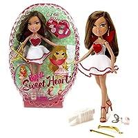 MGA EntertainmentブラッツSweet Heartシリーズ10インチ人形 – Yasmin with Bow、キューピッド矢印、メイクアップアクセサリーand Hairbrush