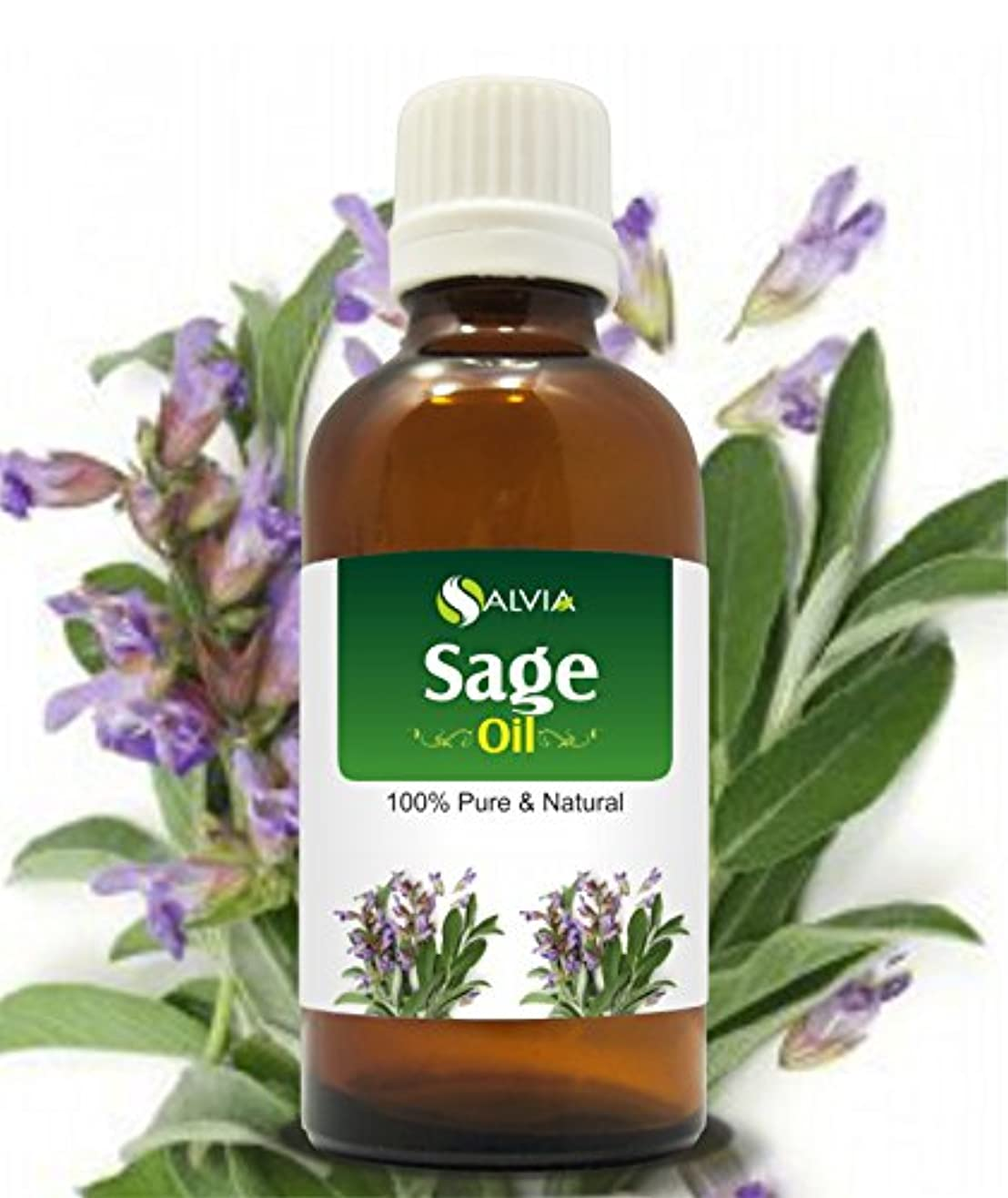 ゼリーゲスト密SAGE OIL 100% NATURAL PURE UNDILUTED UNCUT ESSENTIAL OIL 15ML