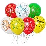 WINOMO ラテックス風船 バルーン 12インチ 森の動物 風船 かわいい カラフルなパターン風船 家の装飾 パーティー誕生日 結婚式 文化祭 お祝い 記念日 40ピース(ホワイト+イエロー+グリーン+レッド)