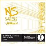 D'Addario NS Electric Cello Single High E String 4/4 Scale Medium Tension 【TEA】 [並行輸入品]