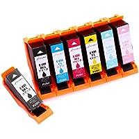 エプソン EPSON KUI (クマノミ) 互換 インク カートリッジ (6色+黒1本おまけ=7本セット) 増量タイプ 残量表示 = 対応 プリンター EP-879AB EP-879AR EP-879AW EP-880AB EP-880AN EP-880AR EP-880AW =【PLUSWAY INC ダブル保証付】
