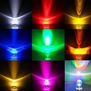 眩輝 LED 5mm 100個 セット 選べる6色! 砲弾 ラウンド 型 電球 20000 mcd 赤 黄 青 緑 ピンク 白 発光 ダイオード led ライト (ピンク)