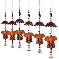 Jaipuri Haat Decorative Ganeshドアhanging-のセット4