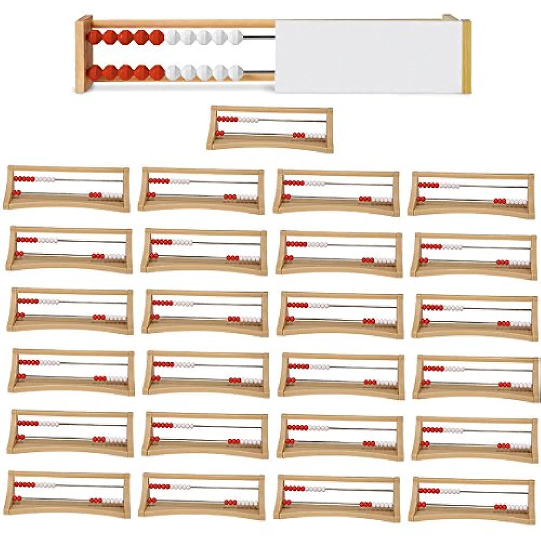 ETA hand2mind 20ビーズレケンスクラス キット プラスチックフレーム25個と教師デモンストレーションフレーム付き