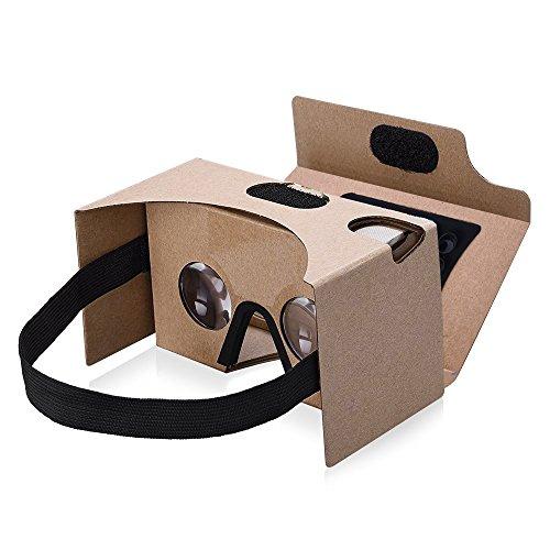 Patech ヘッドマウント VRゴーグル 3DVRゲーム体験 組み立て式 4~5.5インチのAndroidやIOSスマホ適用