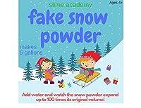 Slime Academyインスタント雪パウダーMakesガロンの人工雪 Makes 10 Gallons SA-snow1