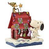 enesco PEANUTS DESIGNS BY JIM SHORE フィギュア スヌーピー&ウッドストック -Prepping for Santa- #4042372