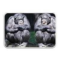 バスマット 吸水 足ふきマット ドアマット バスルーム 速乾 滑り止め 快適 消臭 軽量 お手入れ簡単 お風呂マット チンパンジー