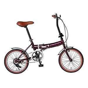 Rover(ローバー) FDB160 レッド 16インチ小型コンパクト折りたたみ自転車 クラシック調バイク 18216-0299