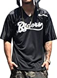 (ディーオーピー)DOP フットボールTシャツ メンズ ビッグTシャツ メッシュ地 ブラック XXXL 大きいサイズ b系 ストリート ファッション