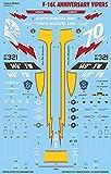カラカルモデル 1/48 アメリカ空軍 F-16C アニバーサリーバイパーズ マーキング プラモデル用デカール CD48130