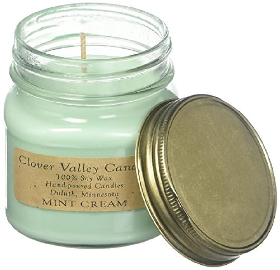 少し迷惑良いミントクリームHalf Pint Scented Candle byクローバーValleyキャンドル