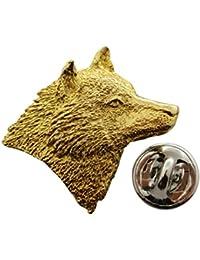 ウルフヘッドピン~ 24 Kゴールド~ラペルピン~サラのTreats & Treasures