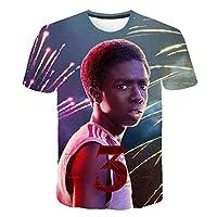 ストレンジャー・シングス 未知の世界 メインアート Tシャツ 半袖 プリント 上下セット,14,160CM