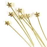 星のデザインピン 4個 ゴールド 基礎金具 アクセサリーパーツ ハンドメイド 手芸材料