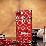 パリキャットウォークモデルTPU ルイ・ヴィトン IPhone7 , IPhone7 Plus CASE ケース スマホケース・ 手帳型 携帯カバー脱着簡単 保護カバー [並行輸入品] (IPhone7, Red)