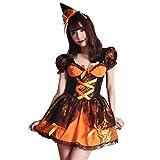ブライトララ コスチューム パンプキン ハロウィン コスプレ衣装 かぼちゃ キュート 仮装 レディース kp0013or-M