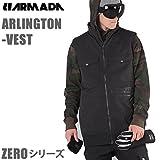 ARMADA(アルマダ) 16-17モデル ARMADA アルマダ スキーウェア ゼロシリーズ ARLINGTON VEST ベスト ブラック (スキーウェア・スキー用品) XL