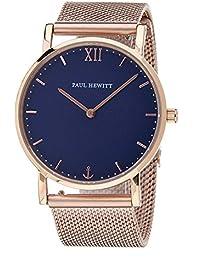 [ポールヒューイット]Paul Hewitt 腕時計 ウォッチ ブルー×ローズゴールド メッシュベルト 36mm レディース [並行輸入品]