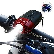 SHENKEY LED自転車ライト 2000mah 1200ルーメン USB充電 IP65防水 軽量 レッド