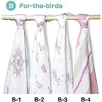 aden + anais (エイデンアンドアネイ) おくるみ 4枚セット 出産祝い スワドル 【並行輸入品】 BForthebirds