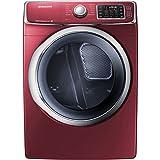 "Samsung DV42H5400EF 27"" Electric Dryer with 7.5 cu. Ft. Capacity, in Merlot [並行輸入品]"