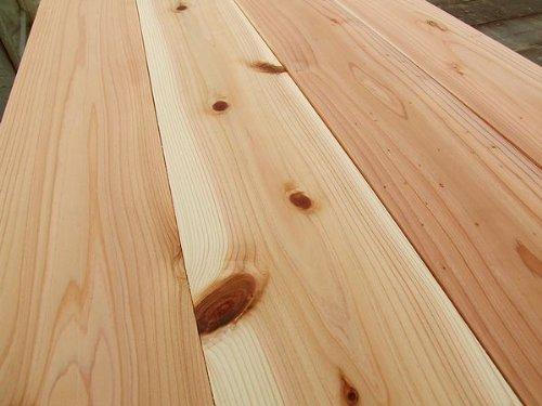 無垢板 杉(スギ)フローリング 床 節有り 11×130×1985 12枚入り 1束