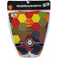 OCEAN&EARTH (オーシャン&アース) PIXEL TAIL PAD サーフボード用 デッキパッド 【Red】 DECK PADS