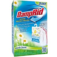 DampRid Hanging Moisture Absorber, Fresh Scent, 14 oz bags, 3 ea ( Pack of 6) by Damp Rid