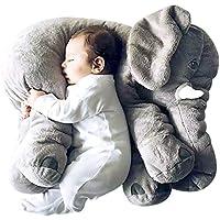「ズーリーナ」Zoolynaa 動物ぬいぐるみ 象さん抱き枕赤ちゃん 出産お祝いギフト 知育 遊具 子供 size 60cm (グレー)