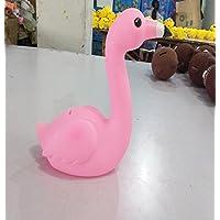 マネー バンク 創造的な人形の装飾ギフトビニールフラミンゴアンチドロップピギーバンク(ピンク)