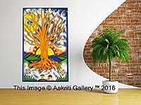 タペストリーSingle Tree Of Life Wall Hangingアート装飾Mandalaタペストリーヒッピー寮84x 55インチAakritiギャラリー