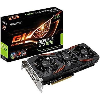 GIGABYTE ビデオカードGEFORCE GTX 1070搭載 GV-N1070G1 GAMING-8GD rev2