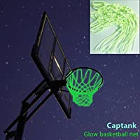 captankグローダークのバスケットボールネットアウトドアスポーツナイロンバスケットボールフープRim Net光グリーングローReplacement Net