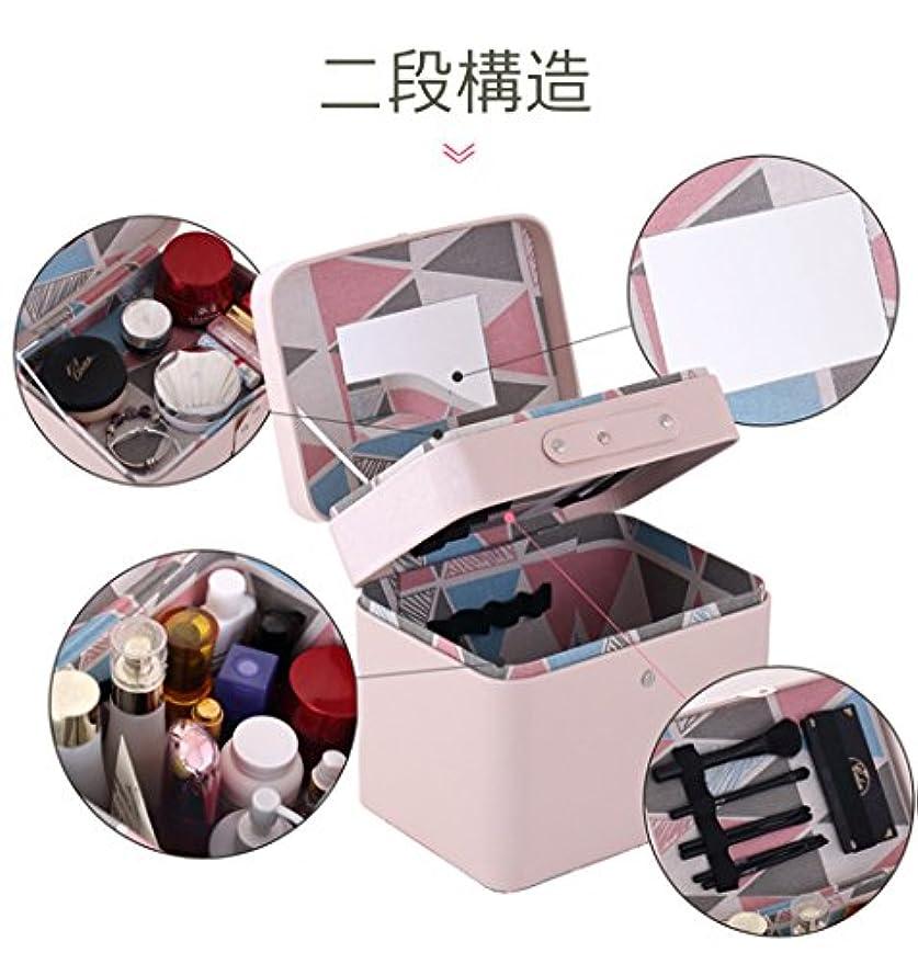 重要な役割を果たす、中心的な手段となる深さドキドキSZTulip メイクボックス コスメボックス 大容量収納ケース メイクブラシ化粧道具 小物入れ 鏡付き 化粧品収納ボックス (ピンク)