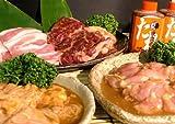 青森県老舗肉屋の焼肉セット 牛カルビ 豚ホルモン 鶏ハラミ 豚バラカルビ 合計 1.4kg