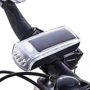 AKEfit ハイブリッドソーラーライト 自転車 ライト LED 防滴仕様 アウトドア グッズ 一般自転車用 ロードバイク用 マウンテンバイク用 じてんしゃ