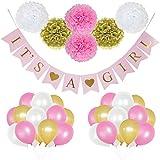 85ピース誕生日パーティー装飾set- Includes Happy誕生日バナー ホワイト 1005