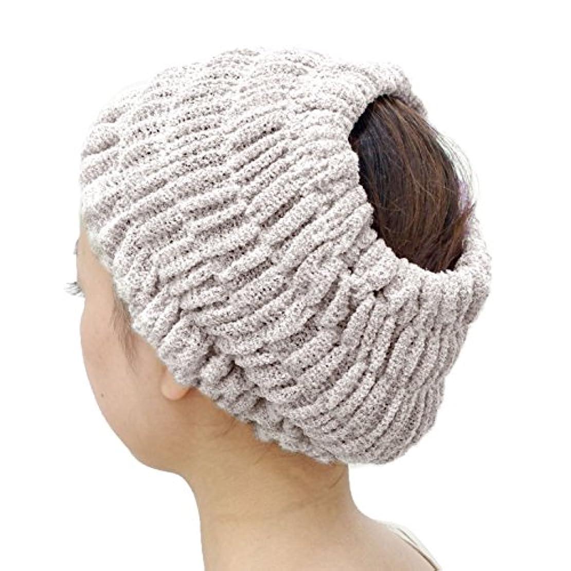付添人必要条件ラベンダーオカ(OKA) プリスベイス エピ 乾きやすいバスヘアターバン ブラウン フリーサイズ PLYS base epi(ターバン ヘアバンド 髪留め)