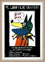 ポスター エドゥアルド・ムニョス・バッチ El lobo y los chivitos - Elisabeta Bostan (エリザベータ・ボスタン) 額装品 ウッドベーシックフレーム(オフホワイト)