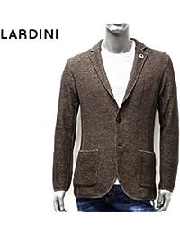 (ラルディーニ) LARDINI ジャケット ニット 鹿の子織り ブラウン×ベージュ EELJM19 EE50012 420BE [並行輸入品]