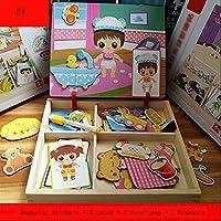 QXMEI おもちゃ 子供 磁気パズル 男の子 女の子 おもちゃ 赤ちゃん 知的力 おもちゃ 1-6歳 ギフト 就学前のおもちゃ 02170