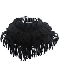 SZTARAファッションScrvesレディース冬暖かいニットケーブルタッセルネックラップ2円スヌードスカーフショール