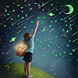 232Pcs Glow in Dark Stars Stickers,Kitmate Glowing Stars Moon Decals for Ceiling Wall Decoration Perfect for Kids Bedding Roo